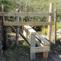 New stile at Bull Pot of the Witches